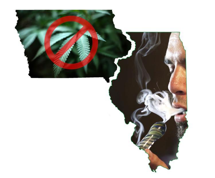 Iowa & Illinois states outline